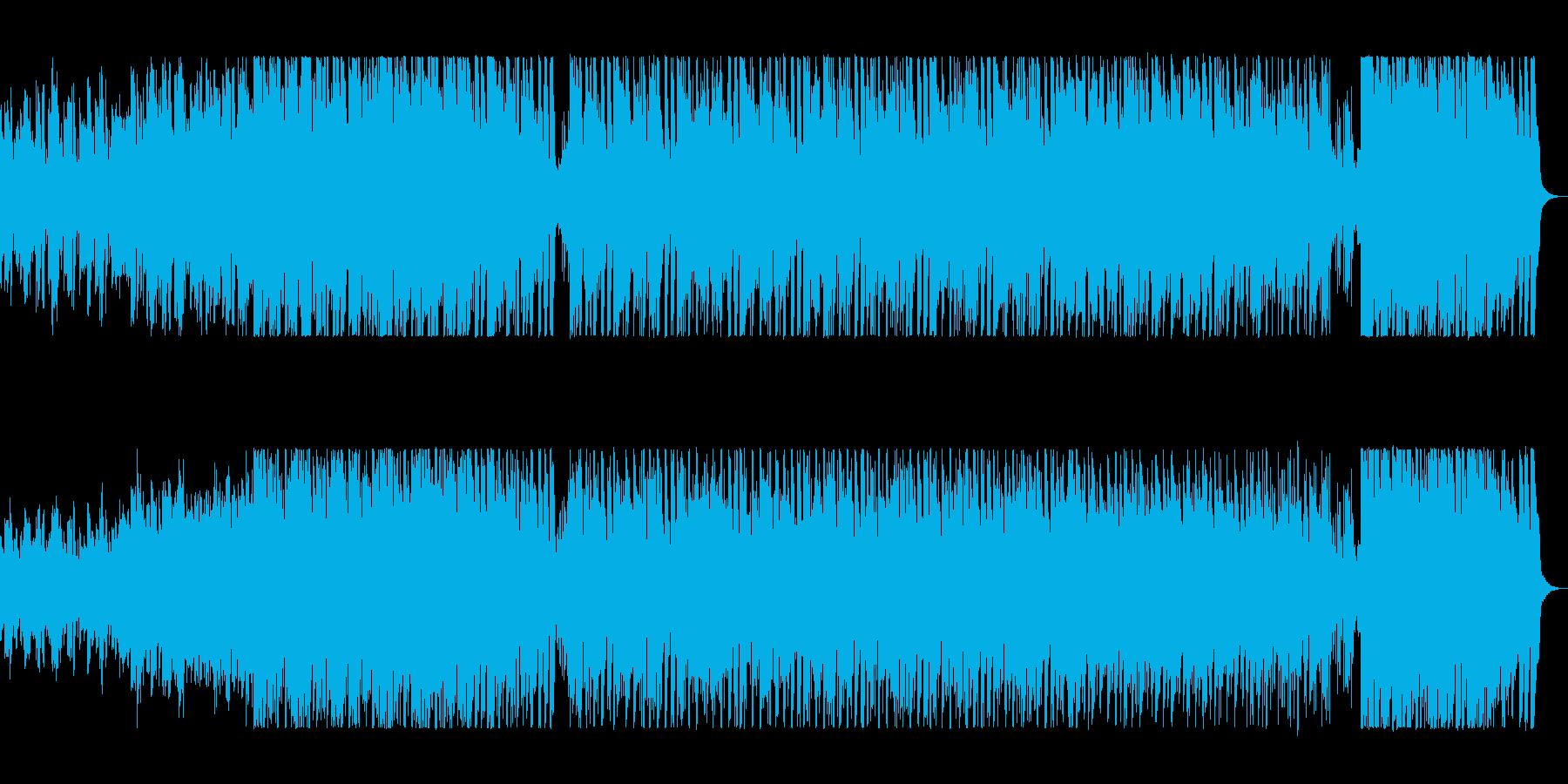 近未来的な明るいポップスの再生済みの波形