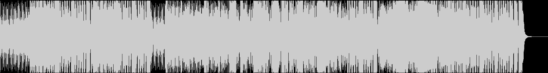 スピード感 躍動的生サックスジャズビートの未再生の波形