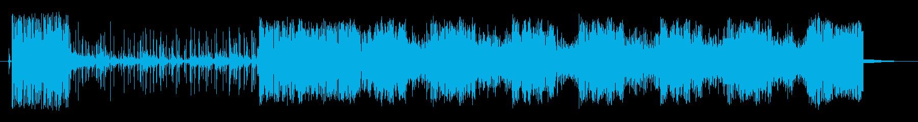薄いスタッターカットトランジションの再生済みの波形