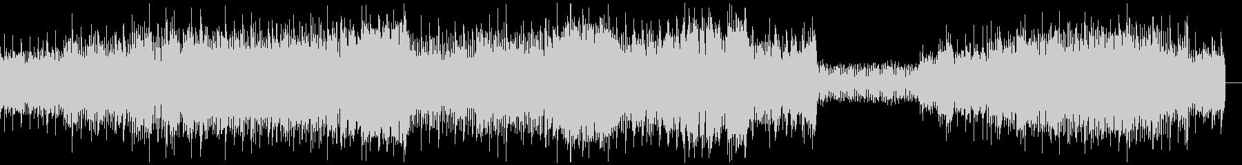 攻撃的なシンセ四つ打ちサウンドの未再生の波形