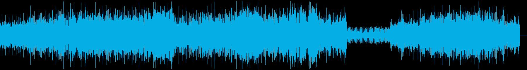 攻撃的なシンセ四つ打ちサウンドの再生済みの波形