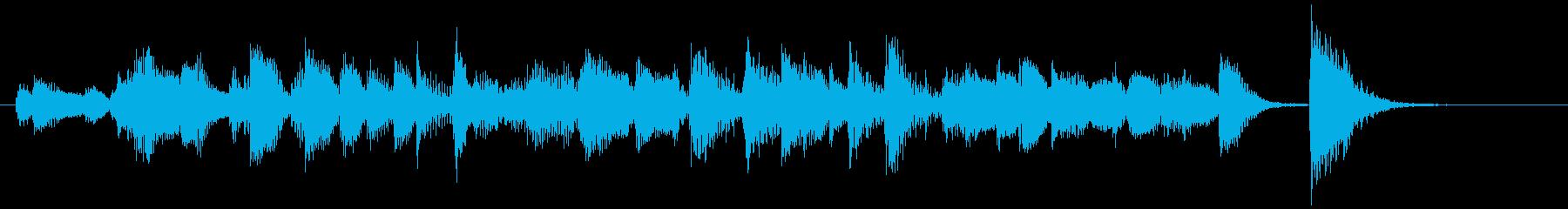 アダルトな雰囲気のジャズピアノのジングルの再生済みの波形
