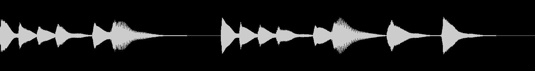 木琴ジングル16_にっこりピース☆の未再生の波形