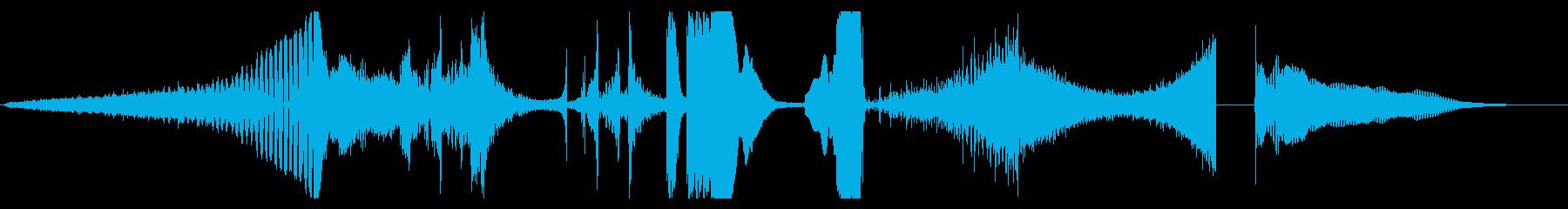 トレーラー ティーザー 先鋭的動画向けの再生済みの波形