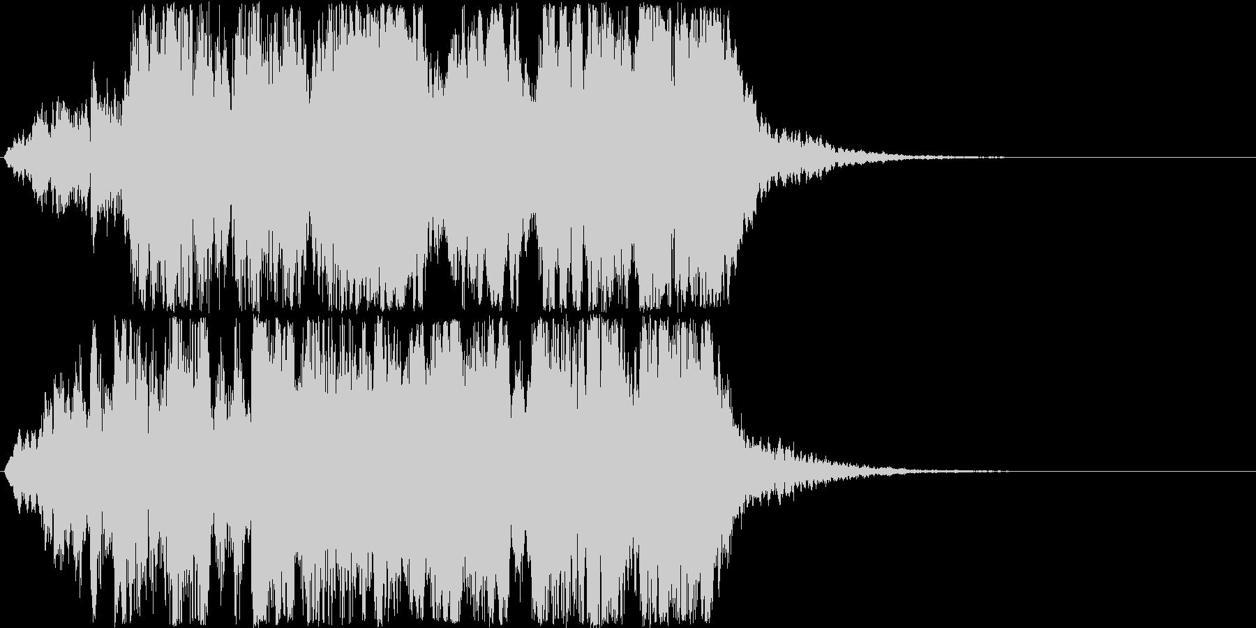 怖い系効果音 キィキィ ガラス擦った音の未再生の波形