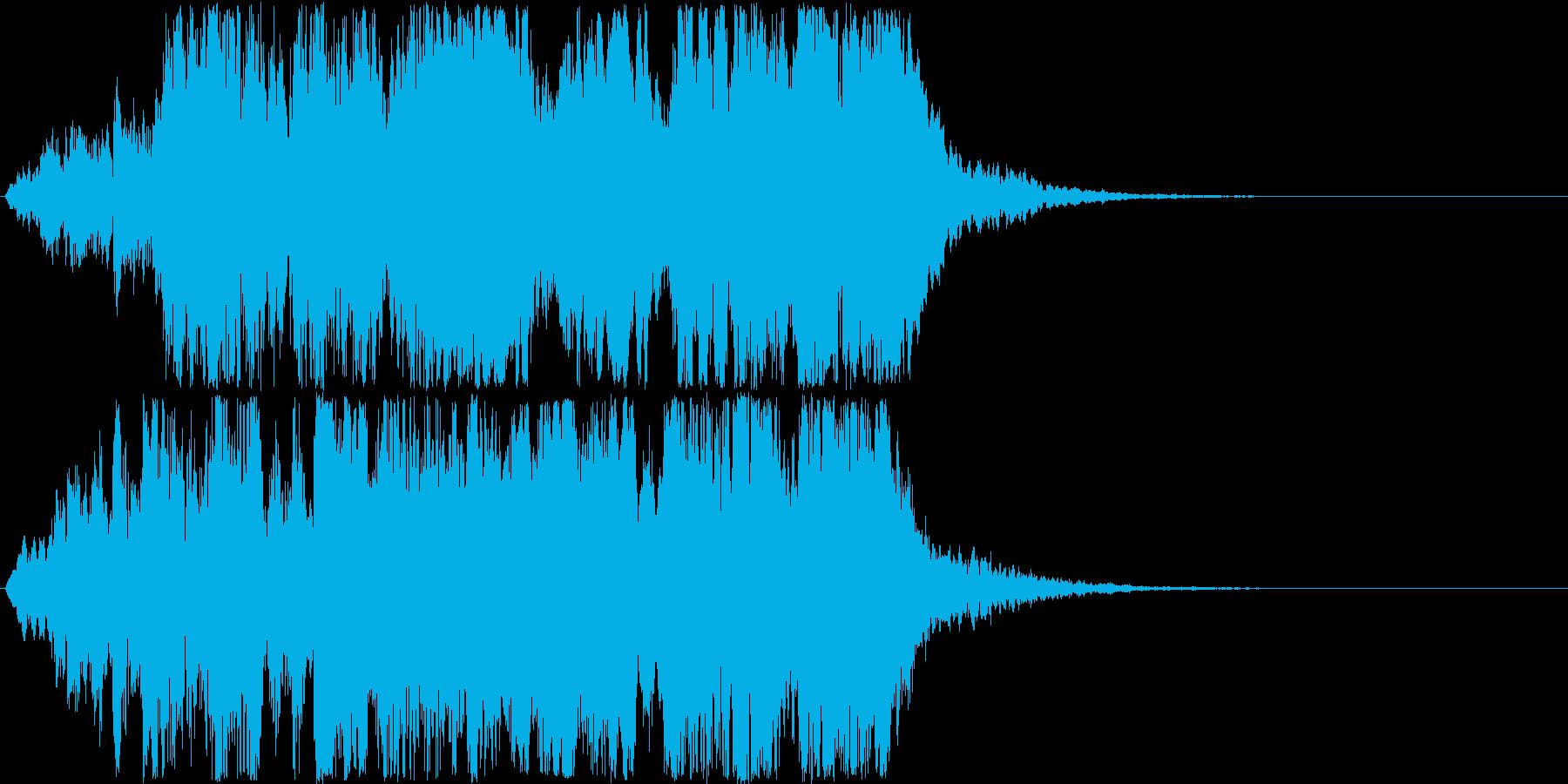怖い系効果音 キィキィ ガラス擦った音の再生済みの波形