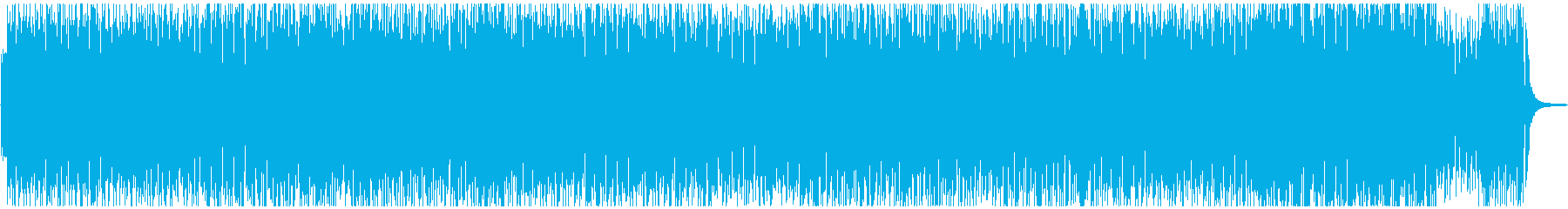 ピアノのハイテンポなジャズの再生済みの波形