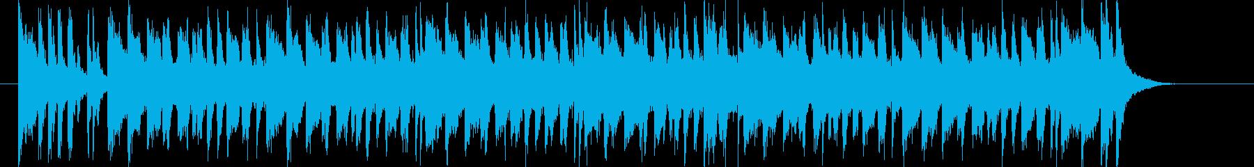 明るくキャッチ―なポップジングルの再生済みの波形
