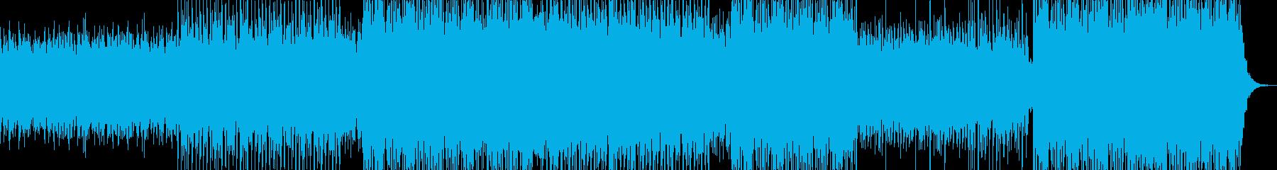 ポジティブ、ハッピー、ロック、トラ...の再生済みの波形