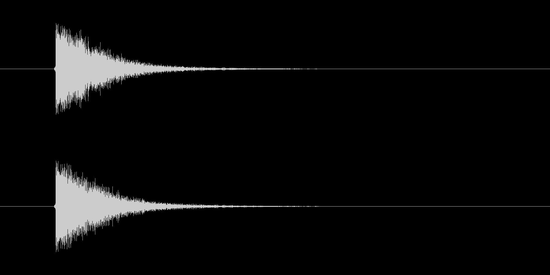 ぴきゅーん! ビーム光線の効果音です。の未再生の波形