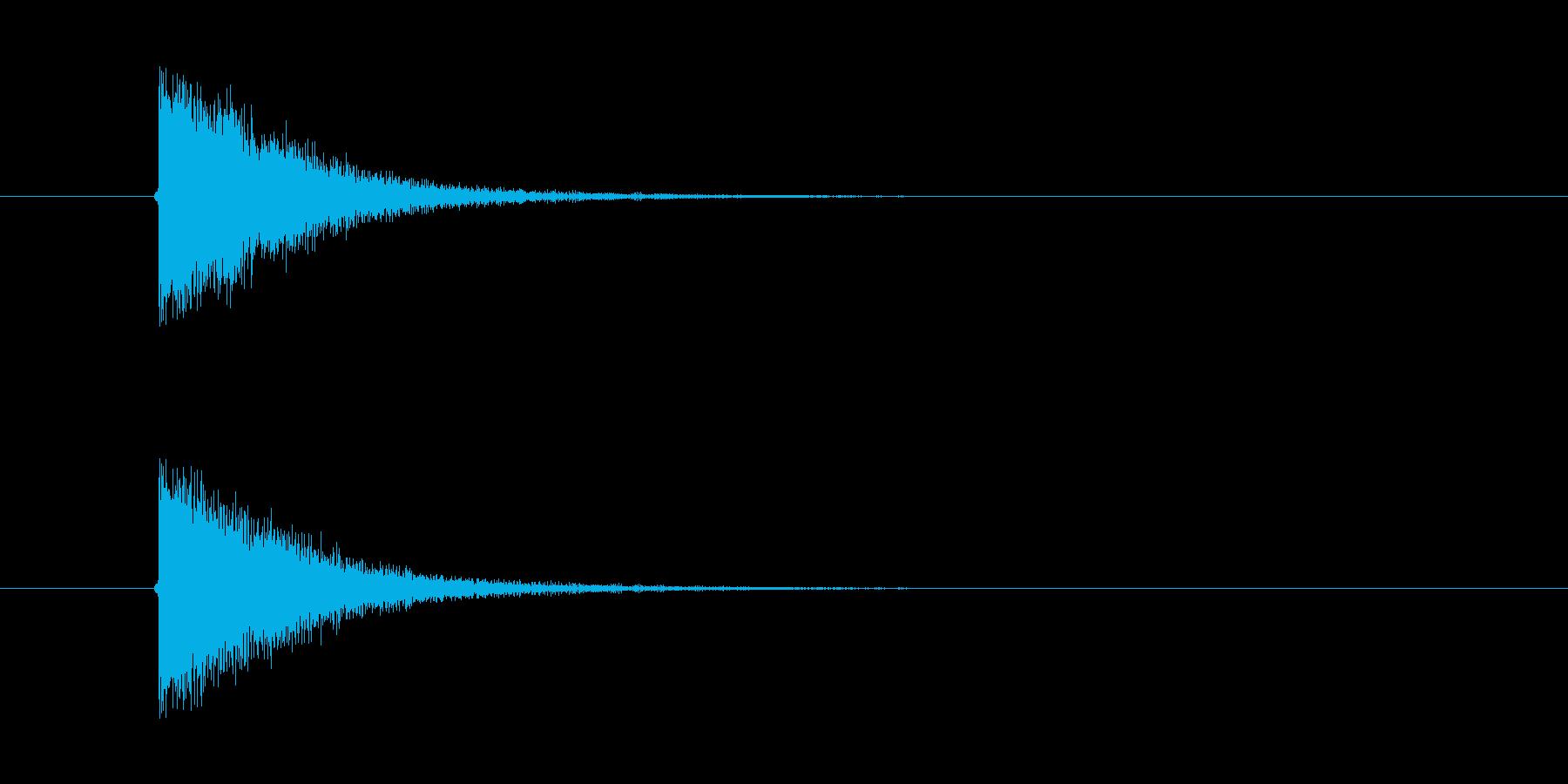 ぴきゅーん! ビーム光線の効果音です。の再生済みの波形