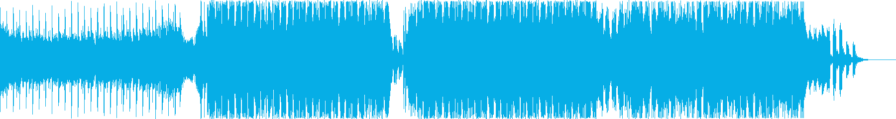 ジングルベルのノリノリEDMアレンジの再生済みの波形