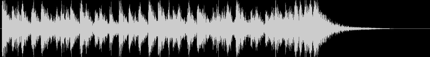 激しく躍動感たっぷりな太鼓です 12sの未再生の波形