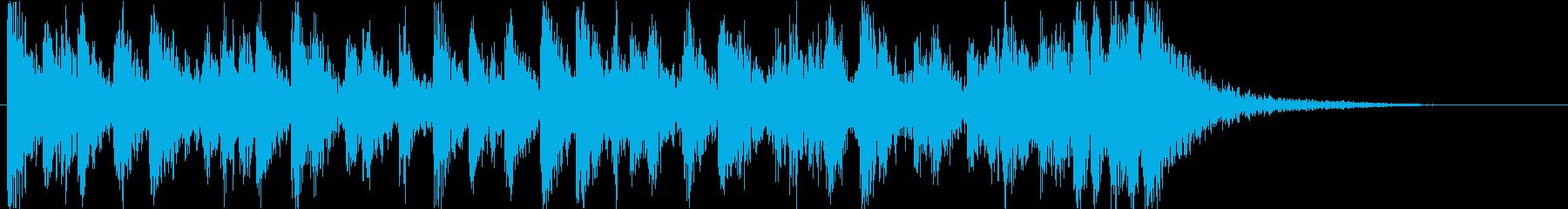 激しく躍動感たっぷりな太鼓です 12sの再生済みの波形