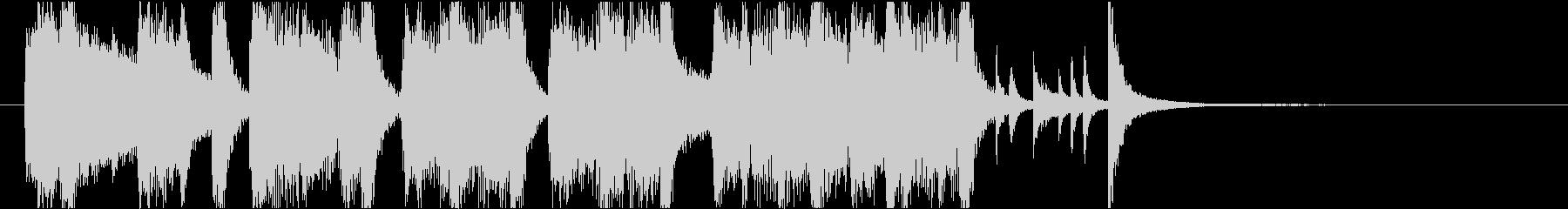 洗練された本格ビッグバンドジャズイントロの未再生の波形