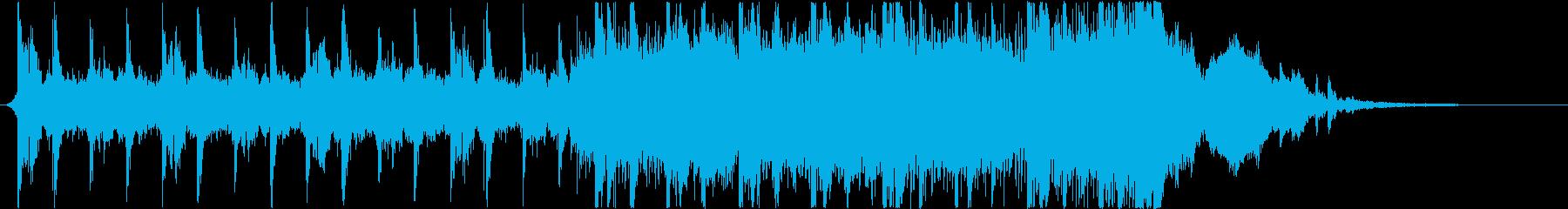 映画トレーラー風テクスチャー楽曲Aの再生済みの波形