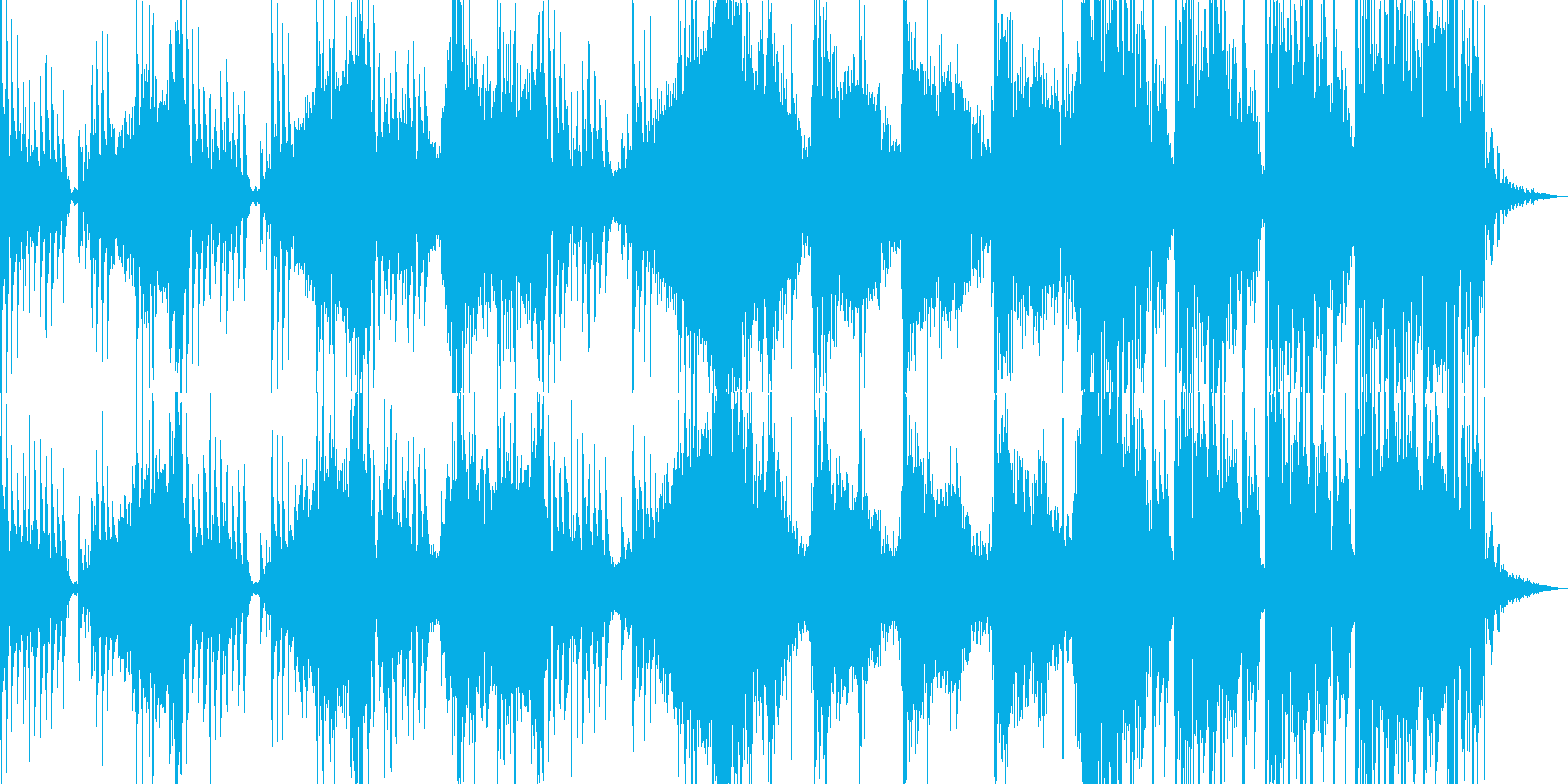緊迫感やスリルを感じさせるトレーラーの再生済みの波形