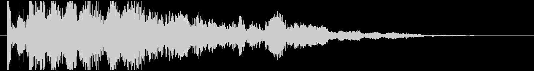 神秘的で透明感のあるアクセント音10の未再生の波形