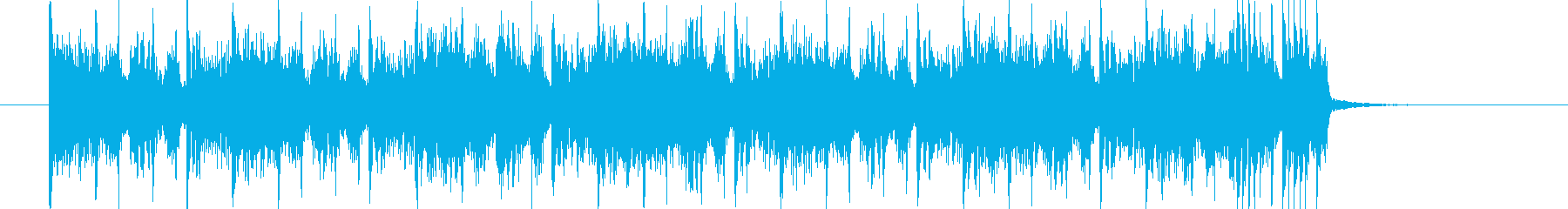シンセサイザーが緊迫感のあるミュージックの再生済みの波形