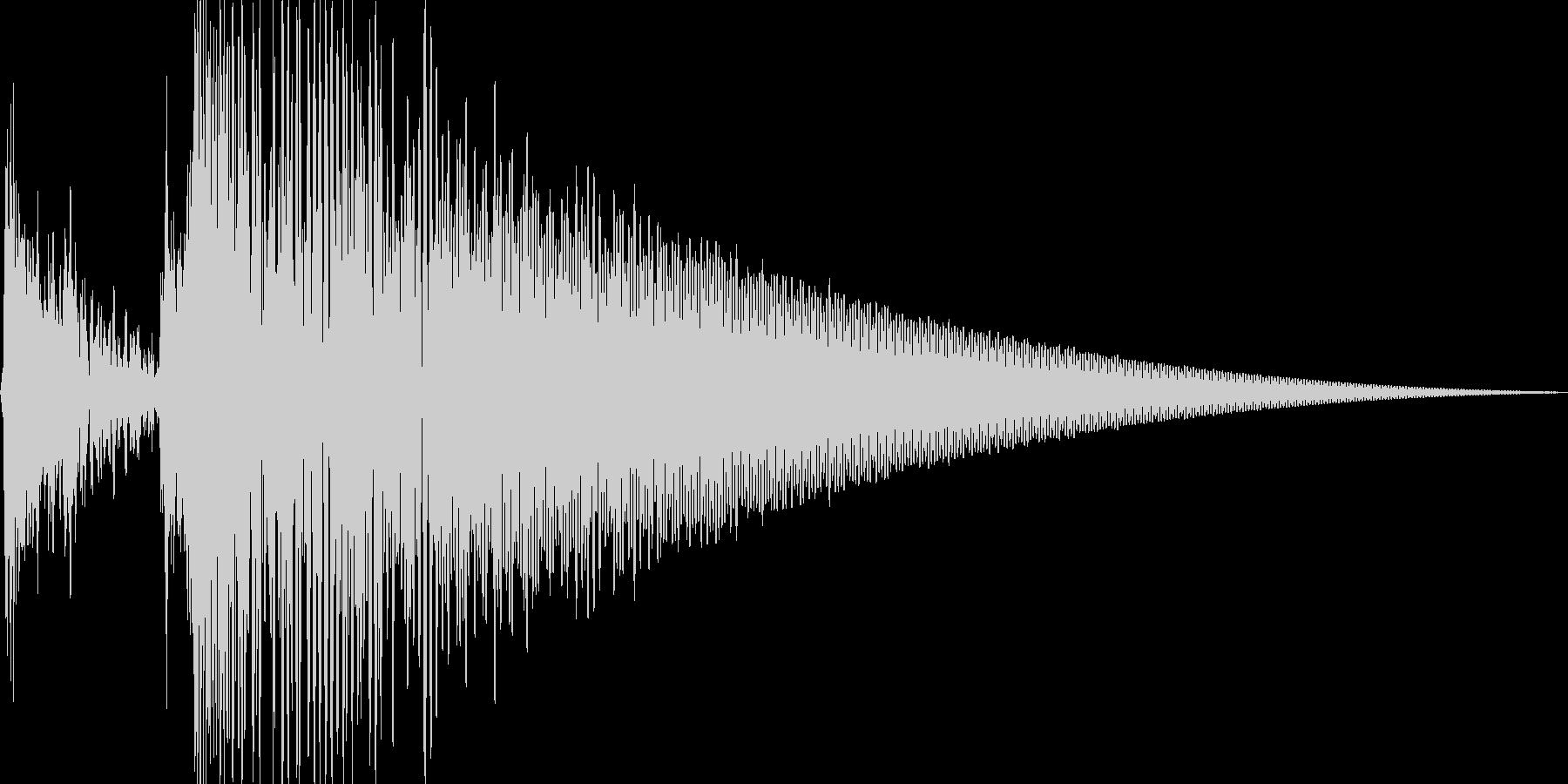 スポットライト点灯音_01_モノの未再生の波形
