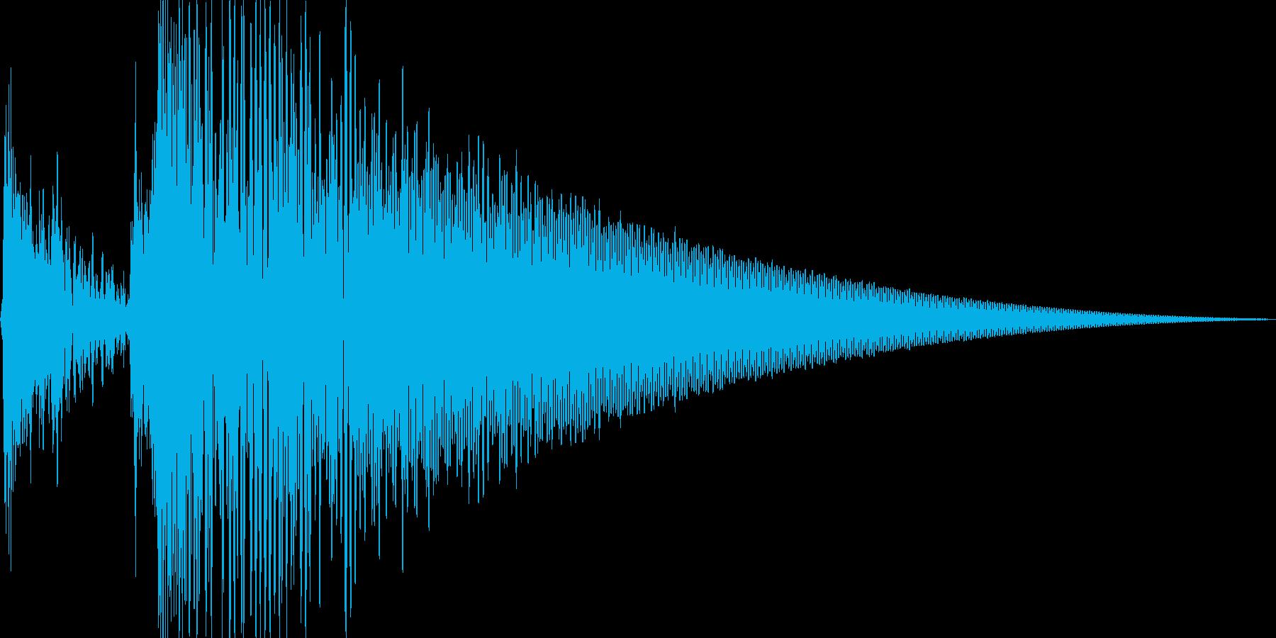 スポットライト点灯音_01_モノの再生済みの波形