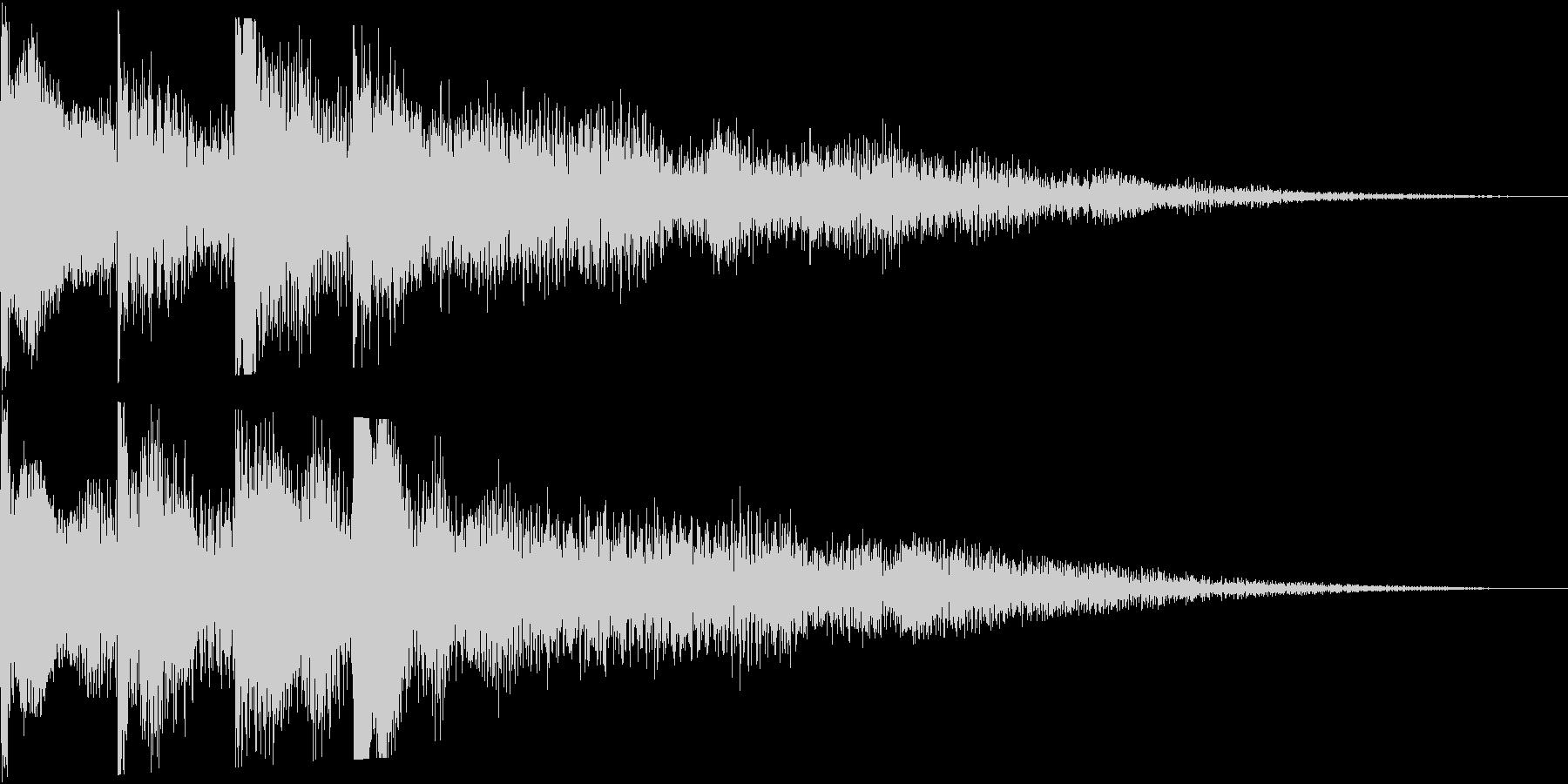 起動音のような電子音のサウンドロゴ短めの未再生の波形