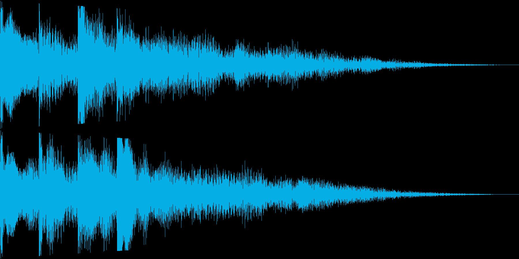 起動音のような電子音のサウンドロゴ短めの再生済みの波形