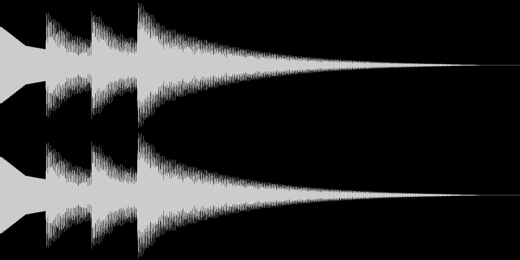 正解音 ピロピローン (スタンダード)の未再生の波形