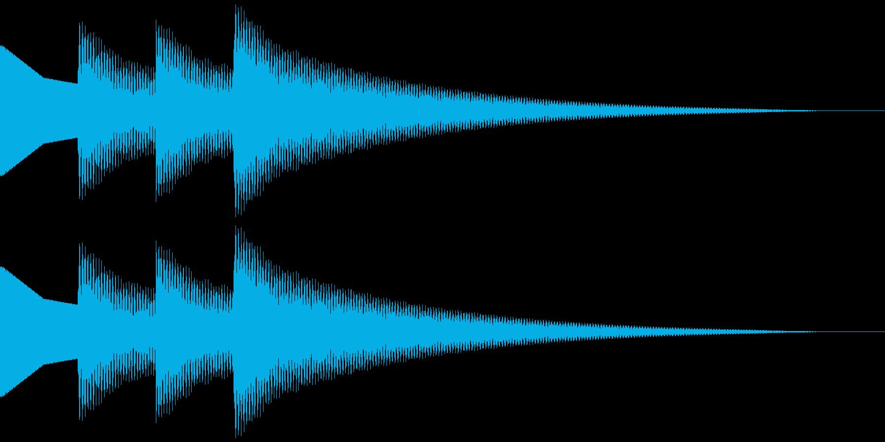 正解音 ピロピローン (スタンダード)の再生済みの波形