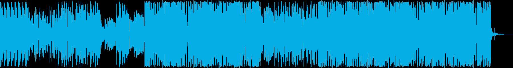 ギターが印象的なハウス系ループの再生済みの波形