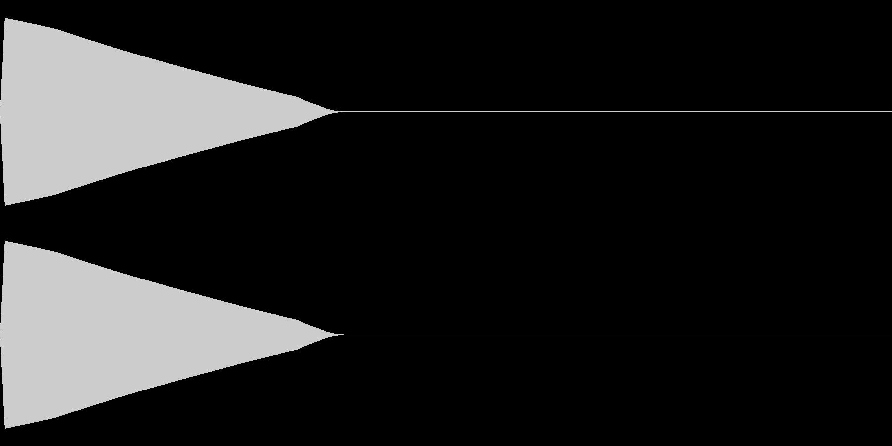 ピッ(決定/選択/かわいい/ピコピコ音の未再生の波形