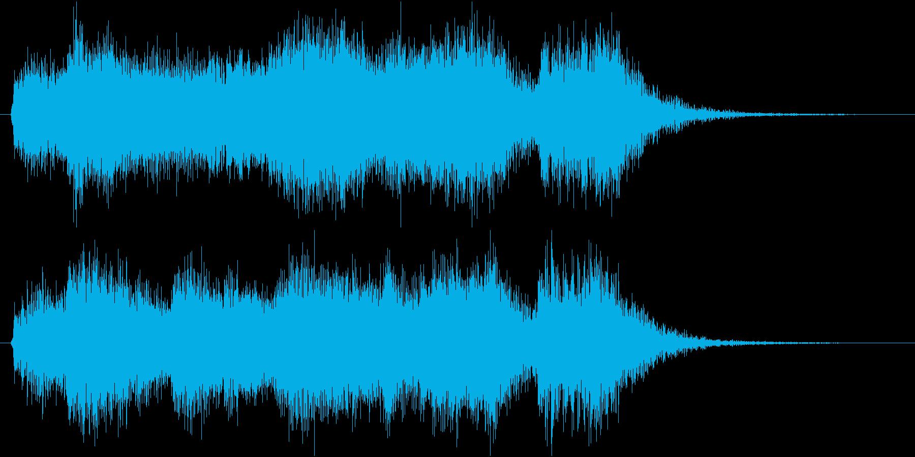 発表!表彰式オープニングファンファーレの再生済みの波形