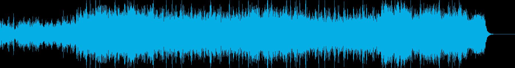 緊迫シーン オーケストラとクワイヤの再生済みの波形