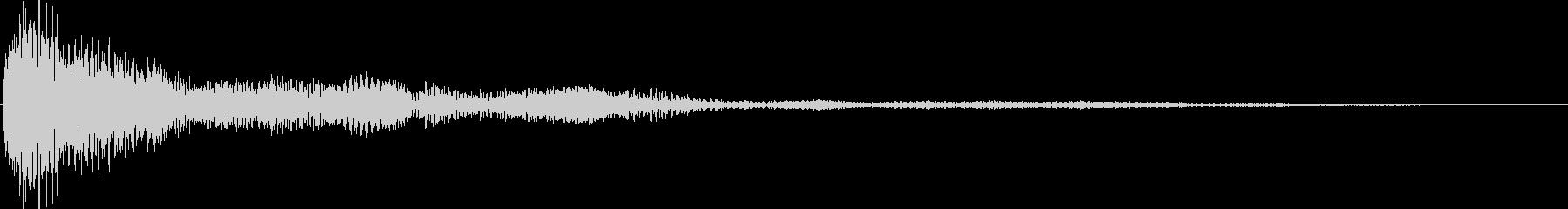 シネマティック サウンドロゴ ホーンの未再生の波形