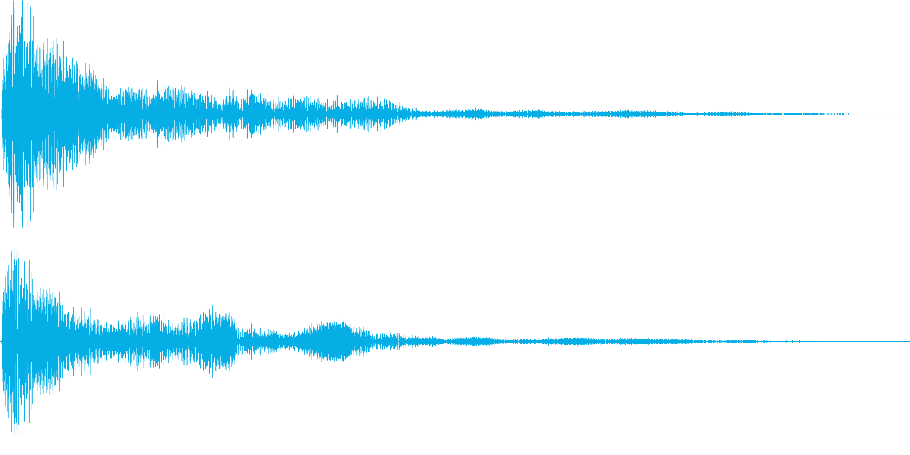 シネマティック サウンドロゴ ホーンの再生済みの波形
