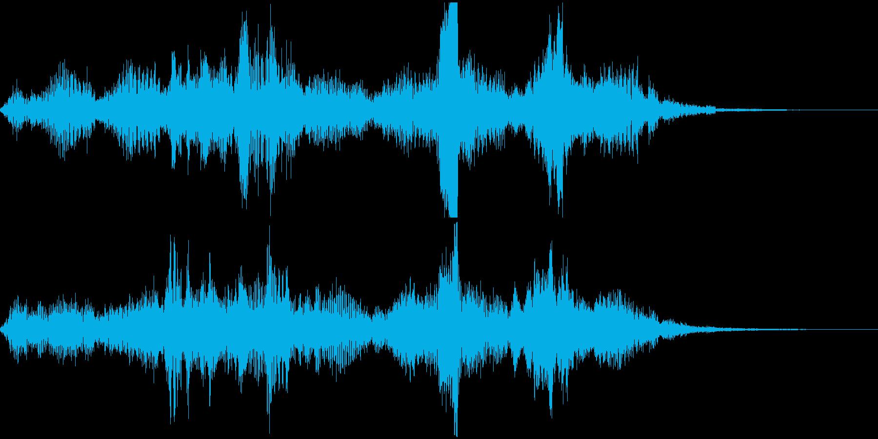 【ゲーム】ダークなフィールド画面に合う音の再生済みの波形