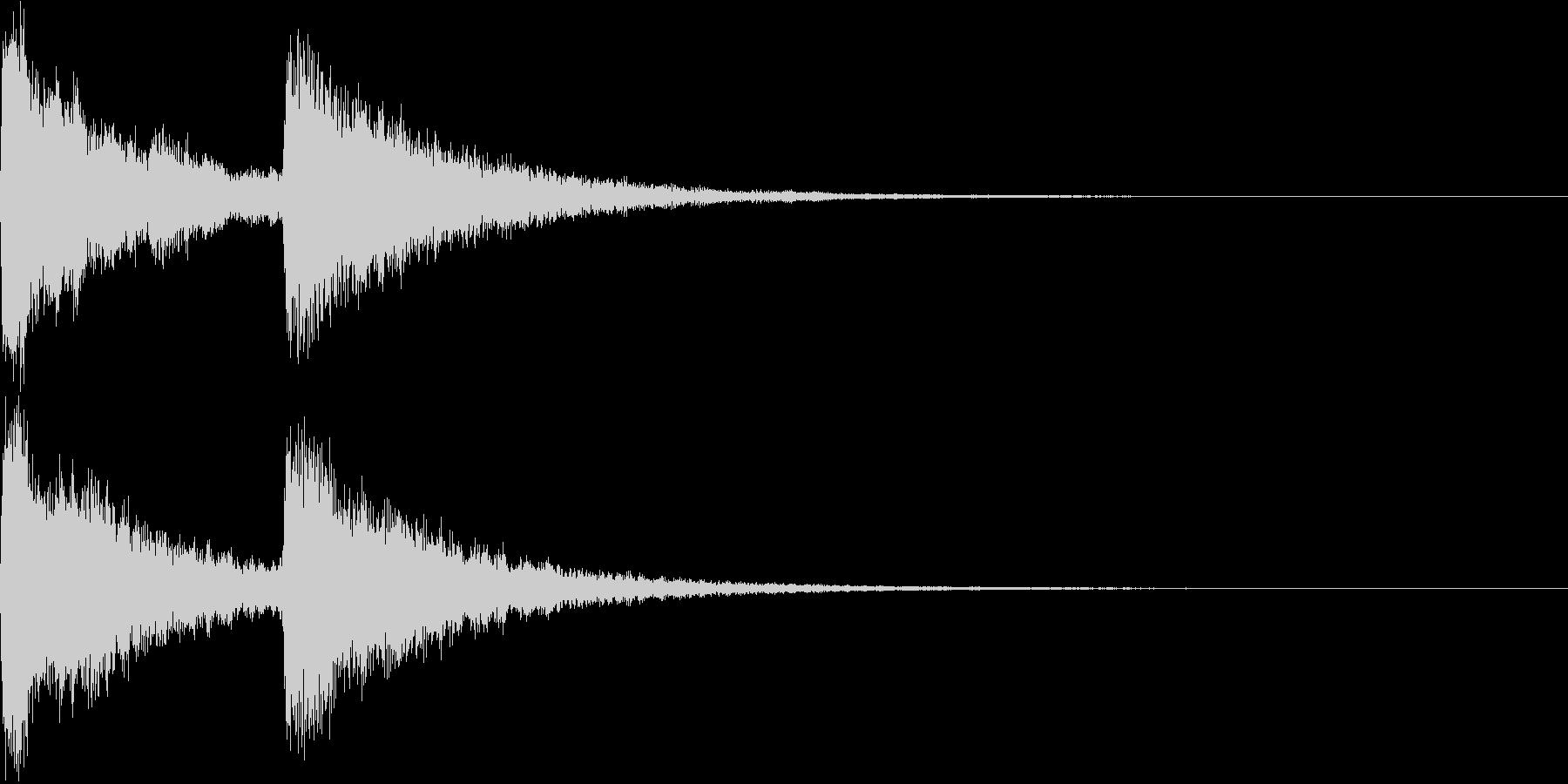 場面転換のキラキラチャイム Aの未再生の波形