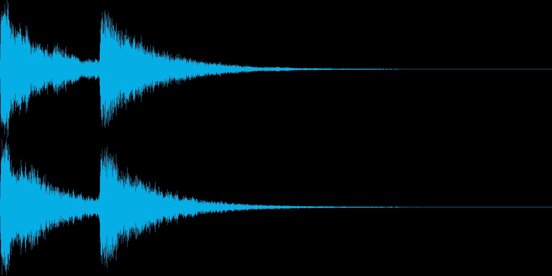 場面転換のキラキラチャイム Aの再生済みの波形
