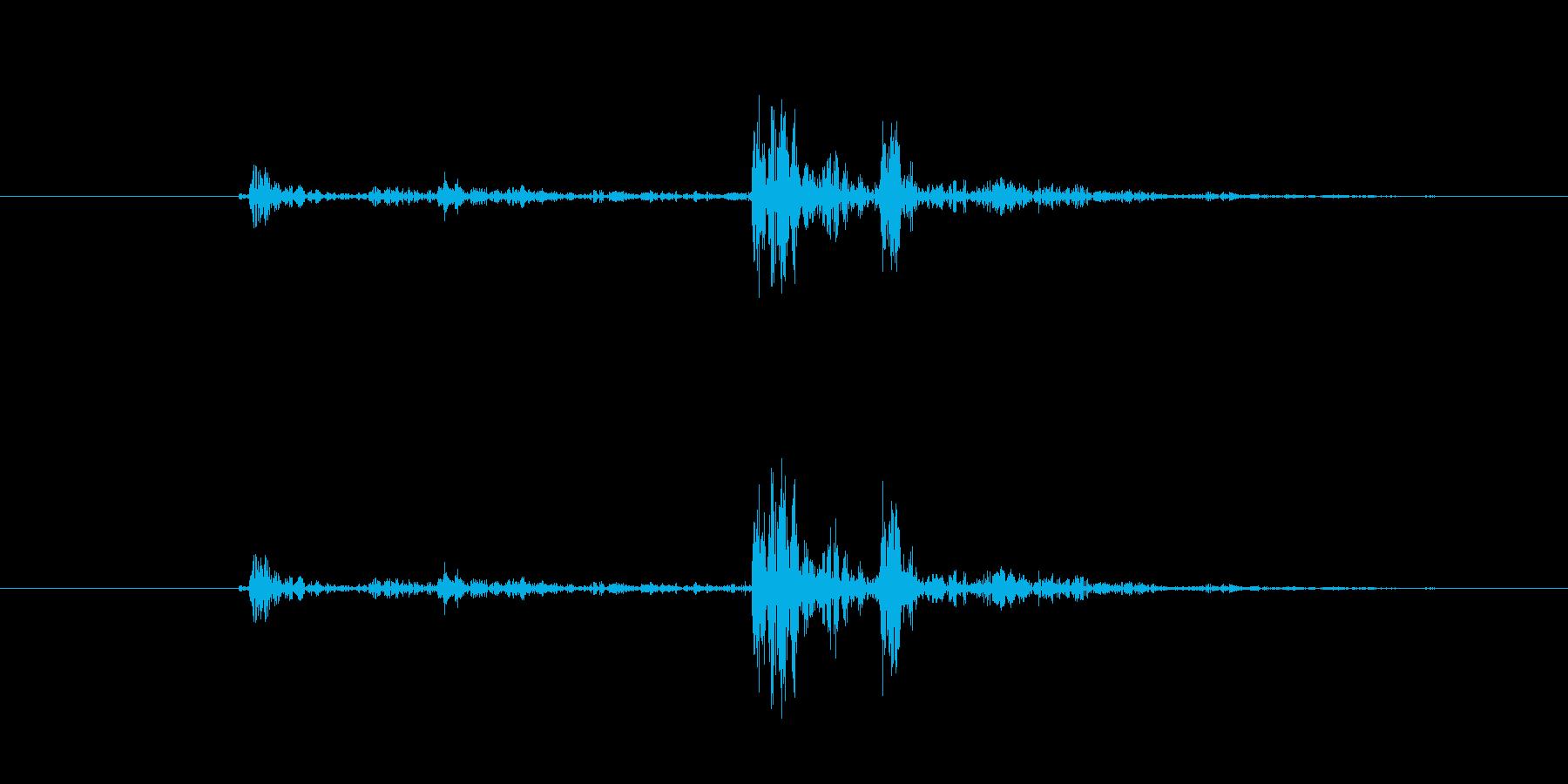 カチャ2(道具を置く)の再生済みの波形