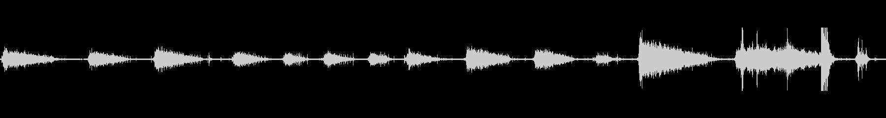 メタルローリングピンスピンの未再生の波形