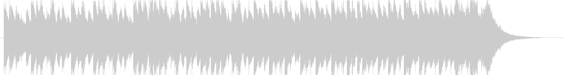 雨/梅雨をイメージしたピアノBGMの未再生の波形