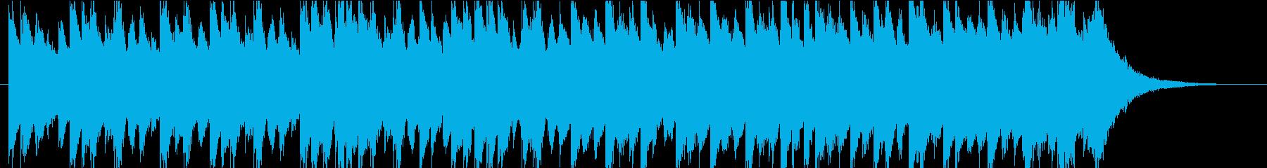 雨/梅雨をイメージしたピアノBGMの再生済みの波形