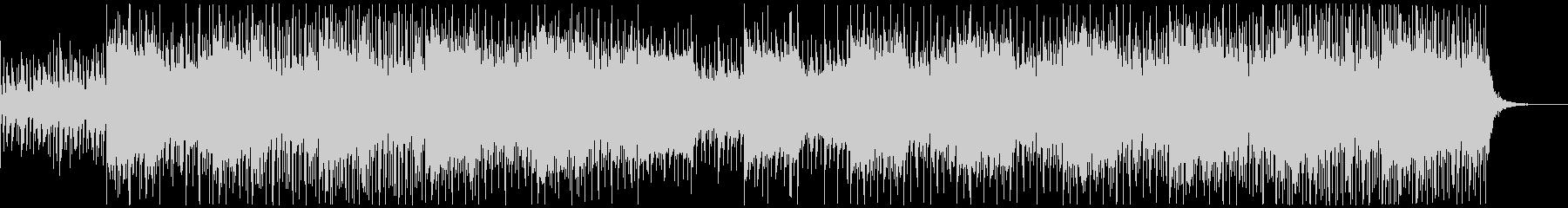 ピアノ、シンセサイザー、ベース、ビートをの未再生の波形