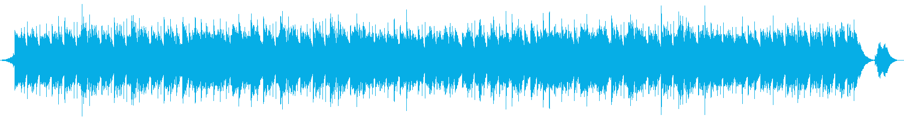 さわやかなリラックスできるヒーリング曲の再生済みの波形