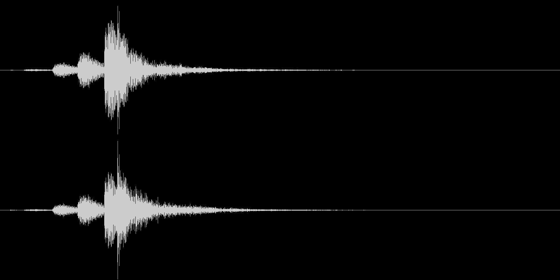 インドの桶太鼓Dholドール連打音+FXの未再生の波形