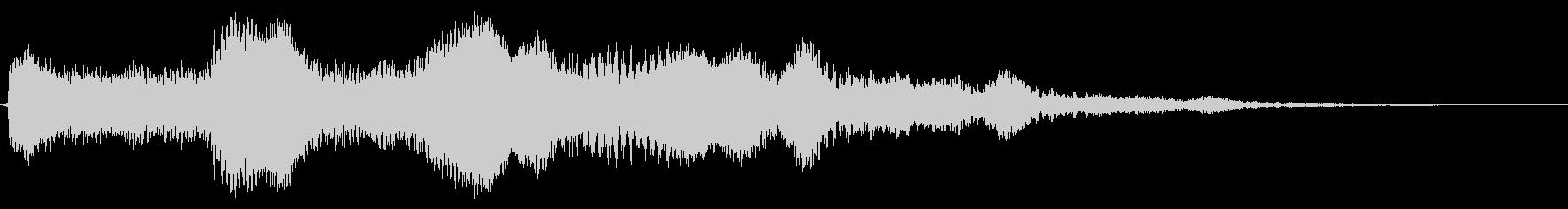 エレクトリックギター:フランジングコードの未再生の波形