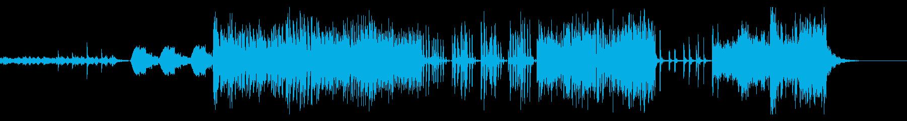 研究所のAI戦 不気味なEDMハウス風の再生済みの波形