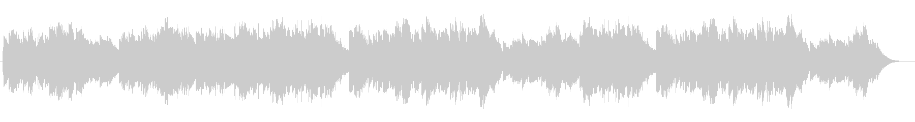 オルゴールのようなベルが優しいバラードの未再生の波形