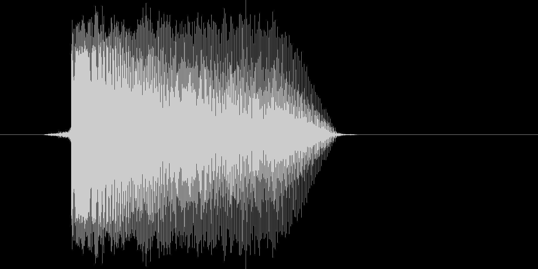 ゲーム(ファミコン風)レーザー音_018の未再生の波形