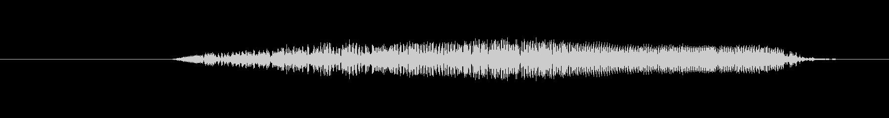 鳥 フクロウの叫び02の未再生の波形